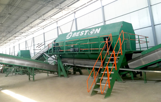 Beston Automatic Waste Sorting Machine Installed in Uzbekistan